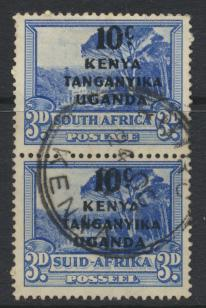South Africa Opt Kenya Uganda Tanganyika KUT Used pair - SG152 SC#87 - see de...