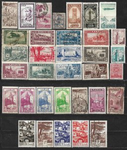 COLLECTION LOT OF 34 FRENCH MOROCCO 1914+ STAMPS CLEARANCE