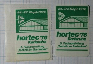 German Trade Expo Technical Exposition Poster Stamp Ads