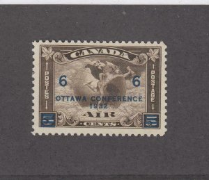 CANADA (MK4103) # C4  VF-MNH  6 on 5cts  1932 C2 SURCHARGED /OLI-BROWN  CAT $120