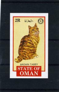 Oman 1984 DOMESTIC CATS & ROTARY s/s Imperforated Mint (NH)