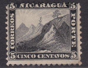 NICARAGUA ^^^^^^1869 RARER  sc#5  mint   CLASSIC $100.00@@dc536nica