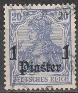 Germany Offices In Turkey #57 F-VF Used CV $22.50 (A17391)