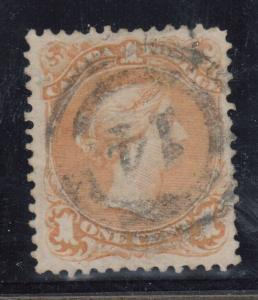 Canada #23 VF Used With 2 Ring 14 Cancel