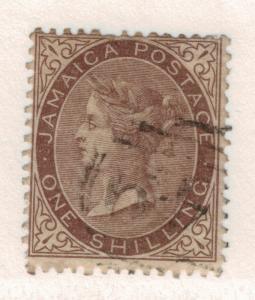 Jamaica Stamp Scott #6, Used, Hinge Remnant - Free U.S. Shipping, Free Worldw...