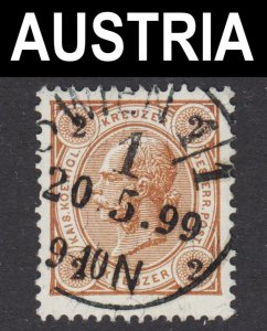 Austria Scott 52 F+ used with a splendid SON cds.