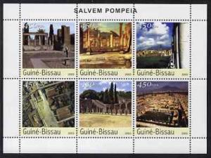 Guinea-Bissau MNH NS/S City Of Pompeii 2003