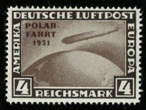 1931, Zeppelin, Overprinted POLAR - FAHRT - 31, 4RM, MNH, ** (RT-1271)