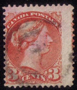 Canada Sc 37d Variety Perf 12-1/2 Wine Red Fine