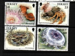 Jersey Sc 681-4 1994 Marine Life stamp set used