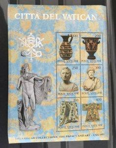 Vatican City Sc# 718, 719, 720 sheets MNH (Mint Never Hinged) NH