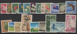 NEW ZEALAND SG781/802 1960-6 DEFINITIVE SET USED