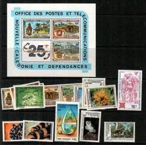 New Caledonia Scott 482A-494, 488b Mint NH -Catalog Value $28.75