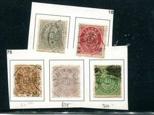 Iceland Lot of Classics  Used F-VF