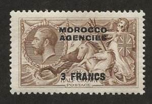GREAT BRITAIN OFFICES - MOROCCO SC# 410  FVF/MOG 1924