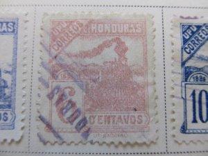 Honduras 1898 6c fine used stamp A11P12F32