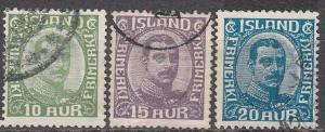 Iceland #116-8  F-VF Used CV $22.60