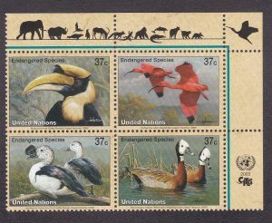 United Nations - New York # 845a, Endangered Species - Birds, NH, 1/2 Cat.