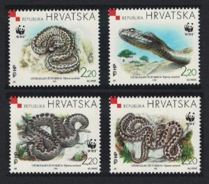 Croatia MNH 391a-d Orsini's Viper 1999