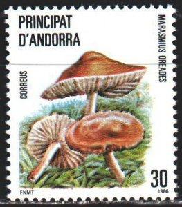 Andorra. 1986. 187. Mushrooms. MLH.