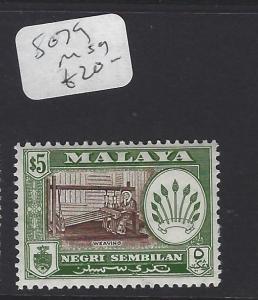 MALAYA  NEGRI SEMBILAN  (P2007BB)  $5.00  SG 79   MOG