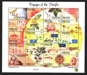 Micronesia. 1999. 745-64. Voyage to the Pacific Ocean, sailboats, birds. MNH.