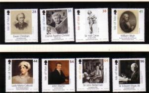 Isle of Man Sc 1163-0 2006 Potrait Gallery stamp set mint NH