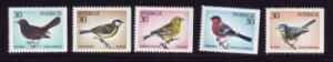 Sweden Sc 873-77 1970 Birds stamp set mint NH