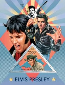 Togo-  2013 Elvis Presley Screen Idol  Souvenir Sheet 20H-726