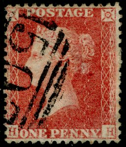 SG40, 1d rose-red PLATE 48, LC14, FINE USED. Cat £18. HH
