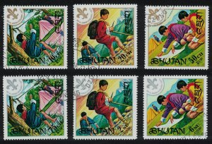 Bhutan Scouts 6v CTO MI#480-485