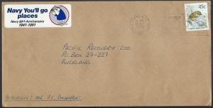 NEW ZEALAND 1991 cover 50th ANNIV NAVY, Cinderella.........................13265