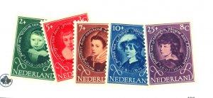 NETHERLANDS #B286-90 MINT FVF OG NH Cat $17