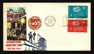 UN 1961 IMF FDC / Hand Colored - L3763