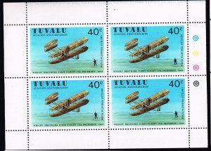 UK STAMP TUVALU WRIGHT BROTHERS MNH S/S STAMPS LOT #1