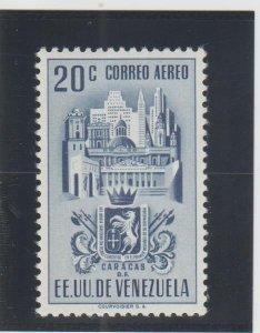 Venezuela  Scott#  C369  MH  (1951 Arms of Caracas)