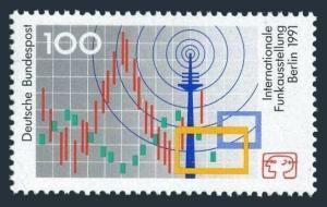 Germany 1680,MNH.Michel 1553. International Radio Exhibition,Berlin,1991.