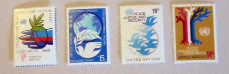 UN, NY - 304-07, MNH Set. Dove, Birds, etc. SCV - $1.05