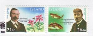 Iceland Sc682-3 1989 Nat History Society stamps mint NH