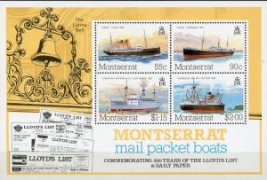 Montserrat #542a Lloyd's List 250th Anniv. MNH