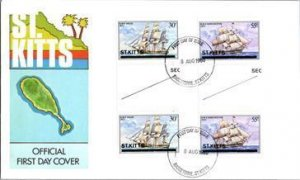 Saint Kitts, Worldwide First Day Cover, Ships