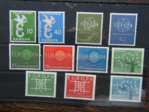 Germany 1958 1959 1960 1962 1963 Europa sets MNH