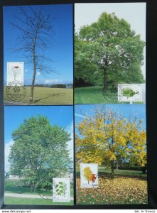 trees set of 4 maximum card Luxembourg 1996