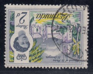 Bermuda, SG 164w, used Watermark Inverted variety