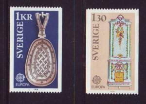 Sweden Sc 1159-60 1976 Europa stamp set mint NH