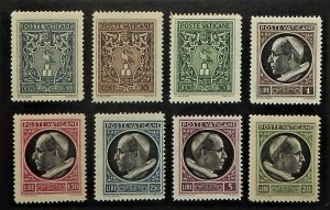 Vatican City 91-98. 1945 5c-20L Definitives, NH