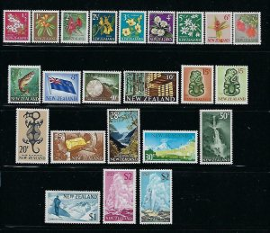 NEW ZEALAND SCOTT #382-404 1967-70 QEII SET (DECIMAL) - MINT NEVER HINGED