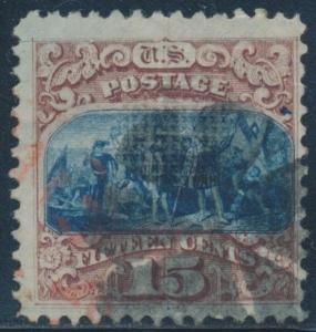 #118 F-VF USED WITH RED COLOR CANCEL CV $800.00+ BR1704