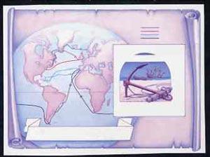 St Vincent - Bequia 1988 Explorers $5 m/sheet (Map & ...