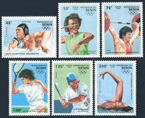 Benin 734-740,MNH.Michel 624-629,Bl.8. Pre-Olympics Atlanta-1996:Tennis,Polo,